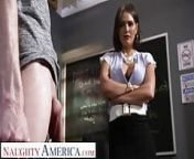 Naughty America Krissy Lynn finds out how student's cock is from ass lynn