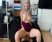 Fucking cuckold's girlfriend to cum on her slutty face - Eva Elfie from www sex te