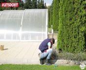 LETSDOEIT - Hot Czech Ebony Wife get nailed by gardener's big cock from ninni bini orang semporna suluk